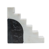 Bloomingville Marble Stair-Step Decor, Set of 2, Black and White