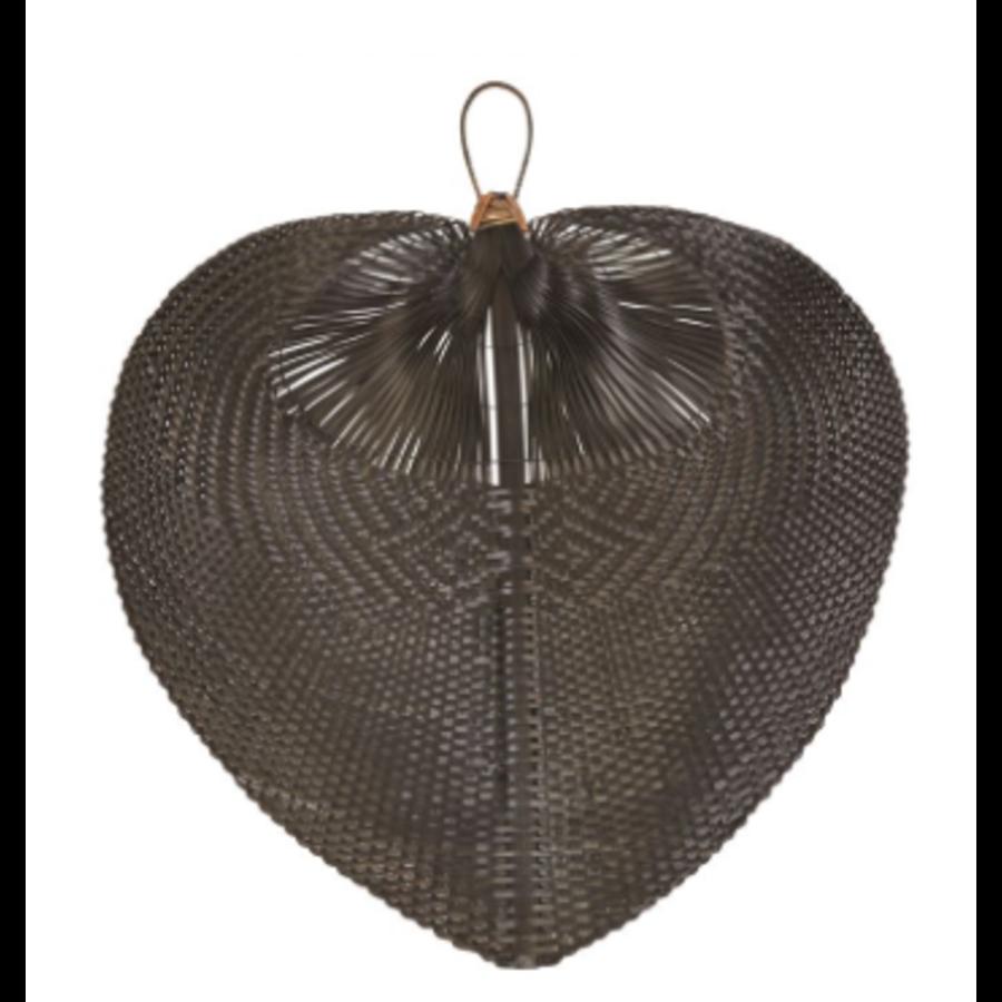 Hand-Woven Bamboo Fan, Black