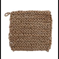 Jute Crocheted Pot Holder, Natural