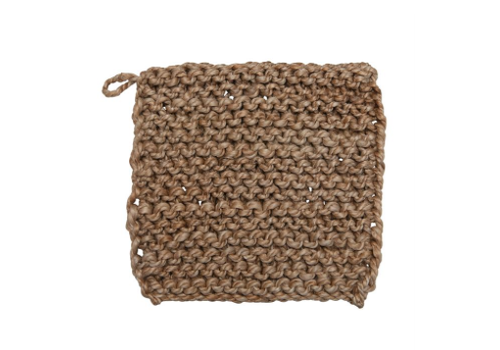 Bloomingville Jute Crocheted Pot Holder, Natural