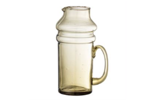 Bloomingville Recycled Glass Pitcher, Olive