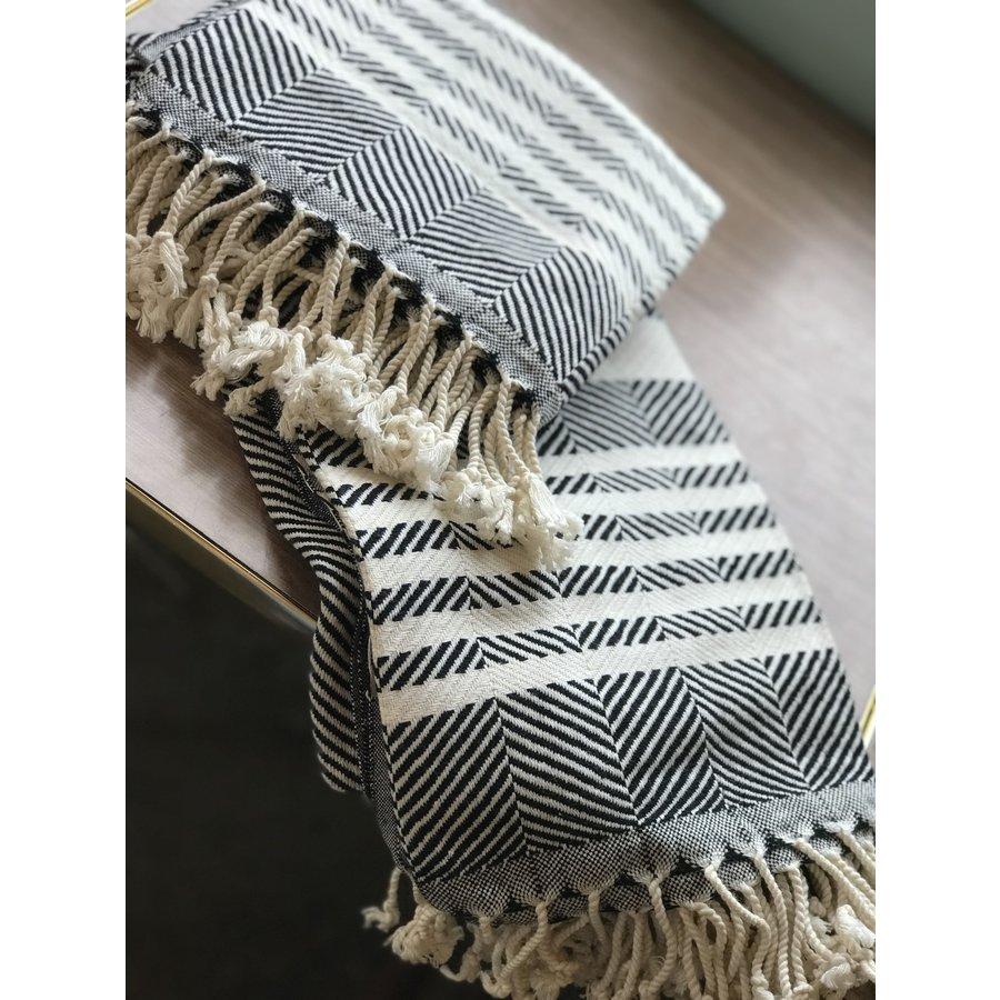 Turkish Towel Zig Zag w/ Stripes