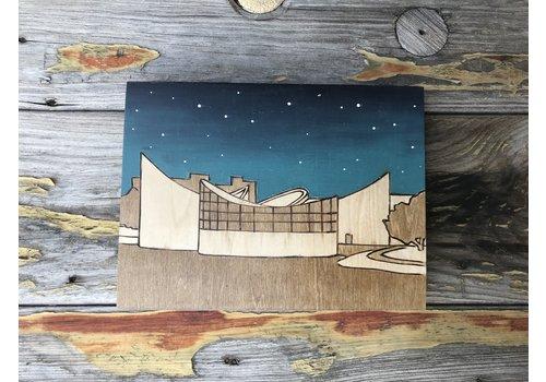 """Lindsey Kernodle Woodburnings Exploration Place Wood Burning 6""""x8"""""""