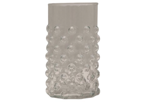 Creative Co-Op Hobnail Drinking Glass