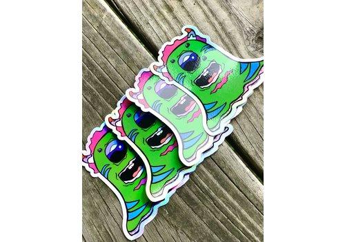 Rachel Madena Art Green Holographic Lil' Monster Stickers- Rachel Madena Art