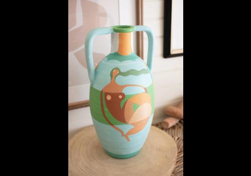 Kalalou Ceramic Vessel- Multi Color Lady small