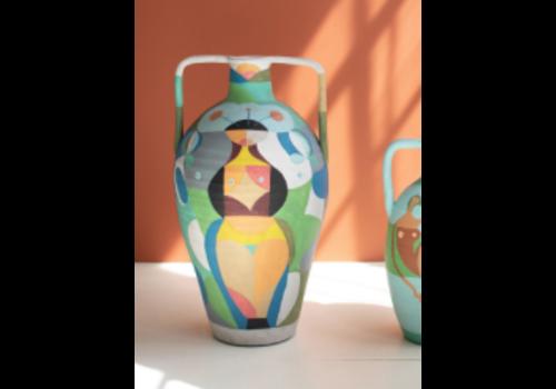 Kalalou Ceramic Vessel- Multi Color Lady Large