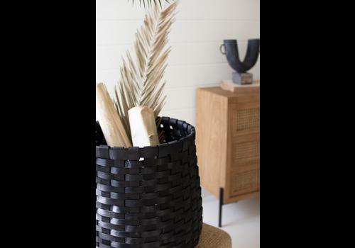 Kalalou Round Chipwood Baskets- Black