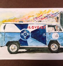 Torin Anderson VW #LOVEICT Bus Watercolor Print