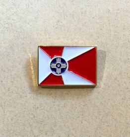 The Workroom ICT Flag Lapel Pin: 3/4 in