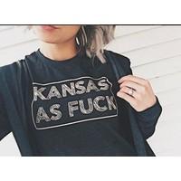 Kansas as F*ck Tee