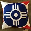 The Workroom Wichita Flag Pillow