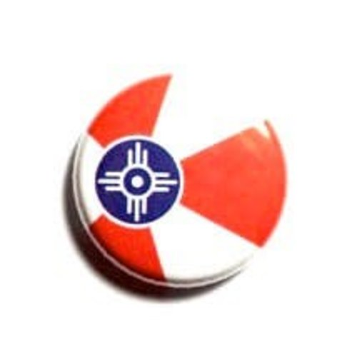 The Workroom Magnetic Button - ICT Flag