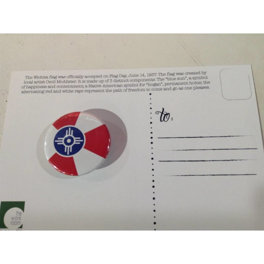 Magnetic Button - ICT Flag
