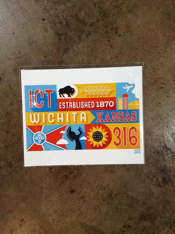 Lupoli Collective Wichita Mural Giclee Print 8x10