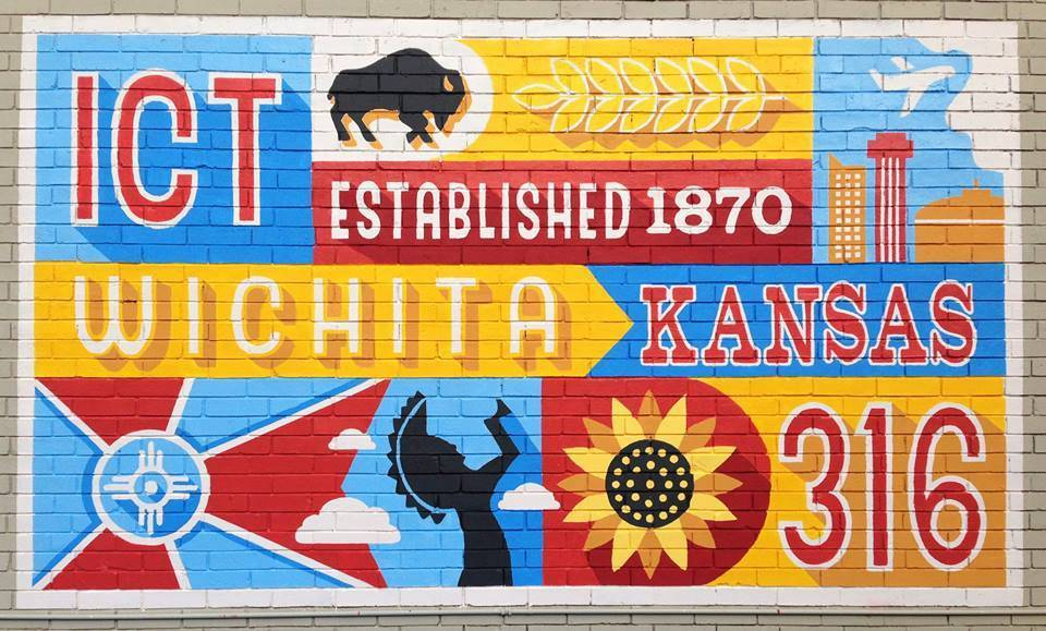 Lupoli Collective Wichita Mural Giclee Print 8x10