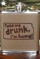 "The Workroom ""Take Me Drunk I'm Home"" KS Flask"