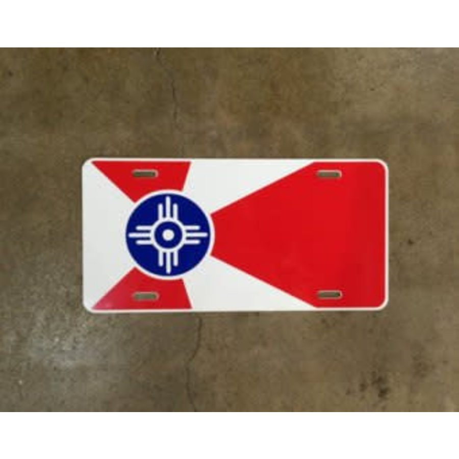 Wichita Flag License Plate