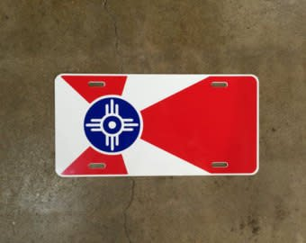 The Workroom Wichita Flag License Plate