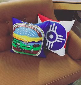 The Workroom Kansas Flag Pillow