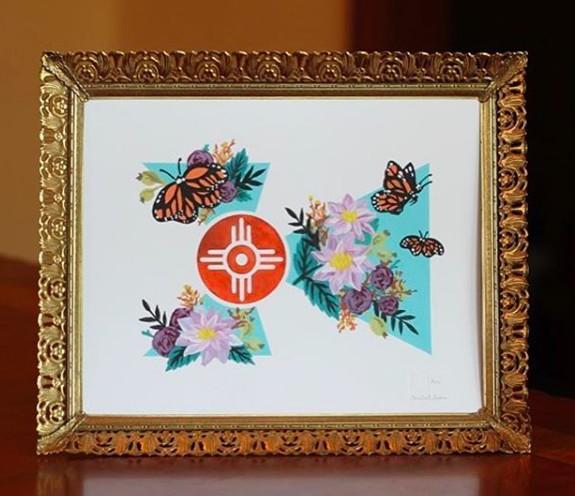 Elisabeth Owens Butterfly Flag Print No.5
