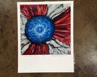 """Emily Miller Yamanaka """"Wichita Sunflower"""" Print 11x14"""