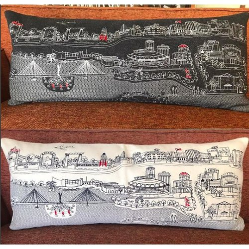 The Workroom Wichita Skyline Pillow - Queen