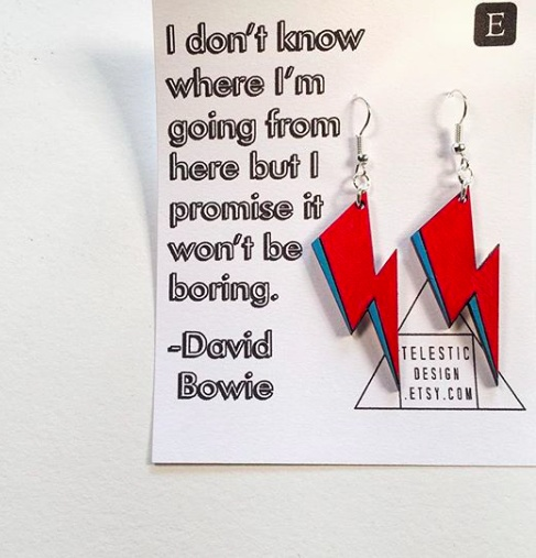 Telestic Designs David Bowie Lightning Bolt Earring