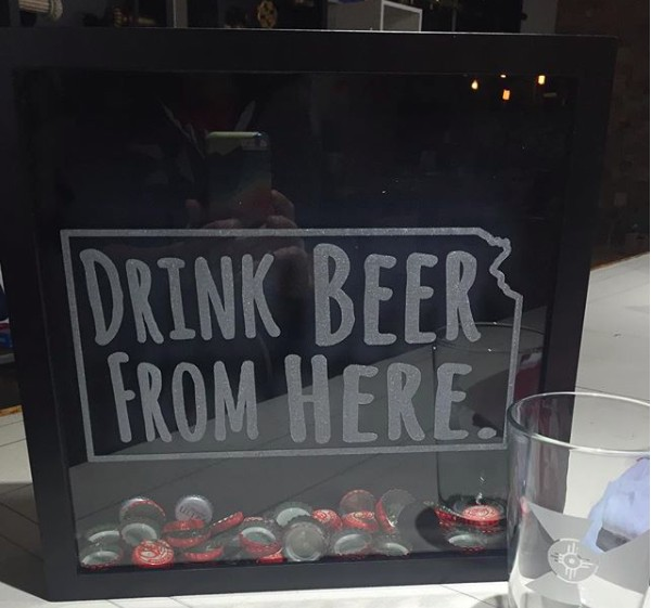 The Workroom KS Beer Cap Shadow Box