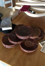 Billie Frank Studios Leather Coaster Set of 4