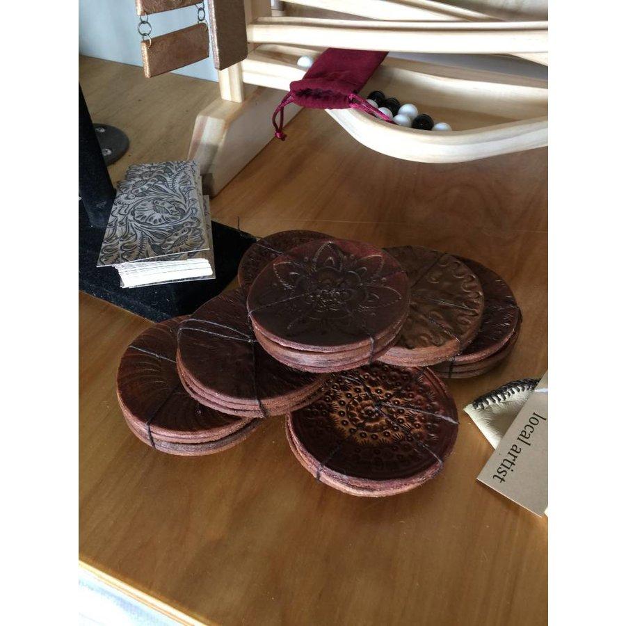 Leather Coaster Set of 4