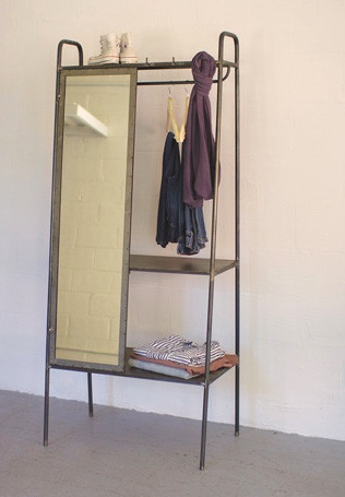 The Workroom Metal Shelving Unit with Mirror