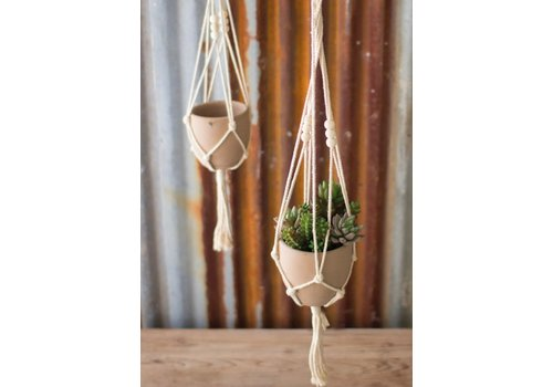 The Workroom Macrame Hanger with Sm Clay Pot