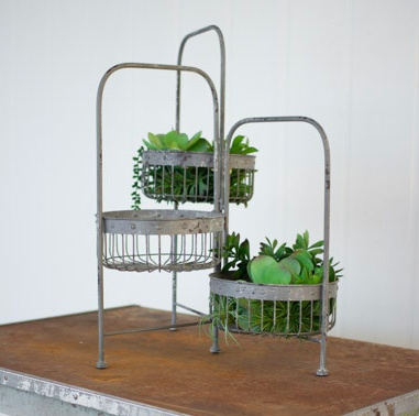 The Workroom 3 Tier Wire Basket Stand