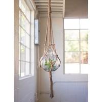 Hanging Macrame & LG Glass Vase