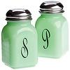 Glass Salt & Pepper Shakers Monogrammed