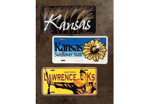 Justin Shiney Lawrence KS License Plate
