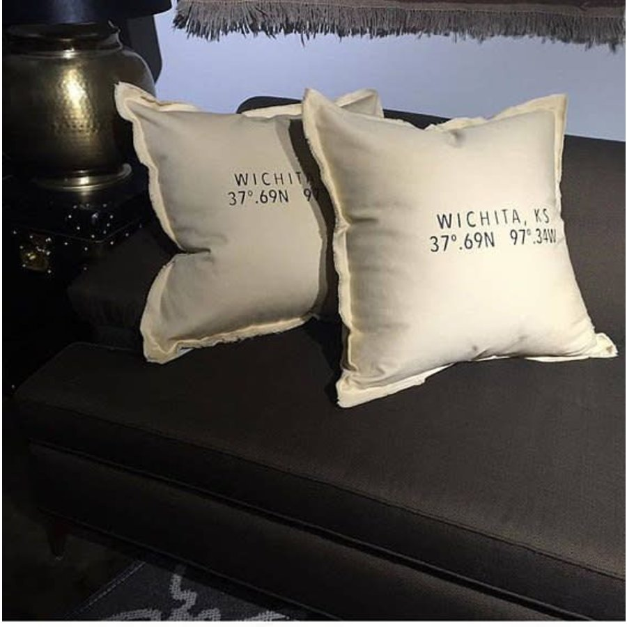 Wichita Coordinates Pillow