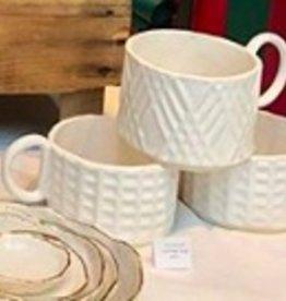 Sarah Zepick Pottery Handmade Textured Mug