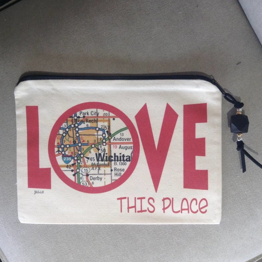 Love This Place zip bag