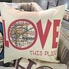 """Julio Designs """"Love"""" 16' Square Pillow"""