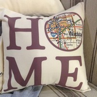 """Home"" 16"" Square Pillow"
