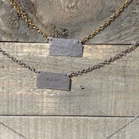Hand Stamped State Necklace