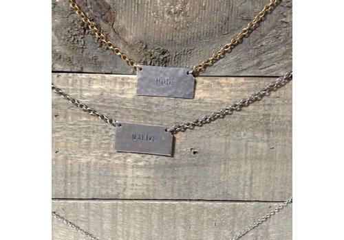 Julio Designs Hand Stamped State Necklace