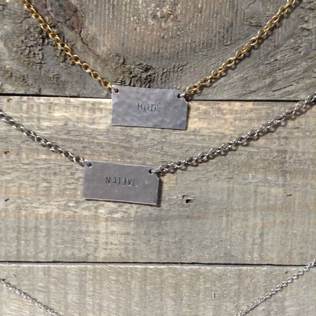 Julio Designs Hand Stamped State Necklace