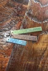 Julio Designs Hammered Bar Necklace