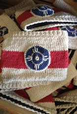 The Workroom Hand Knit Flag Pouch