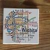Julio Designs Wichita Map Coaster Set