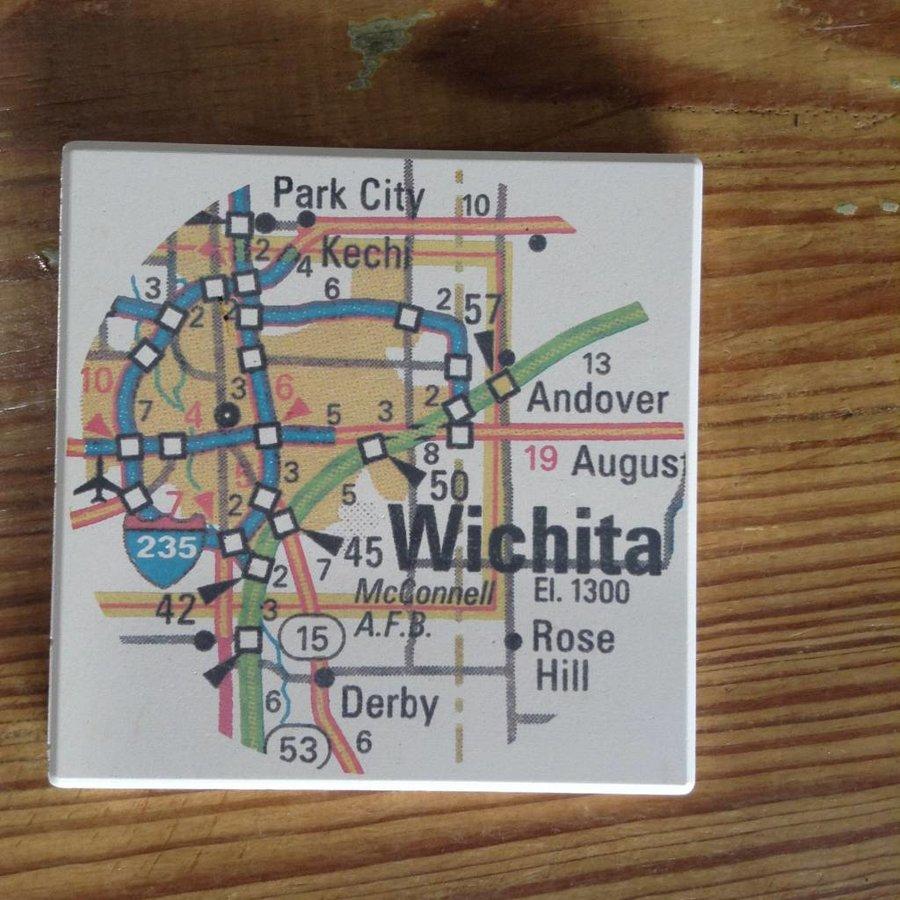 Wichita Map Coaster Set