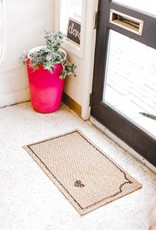 Liv+Work KS State-o-Love Door Mat
